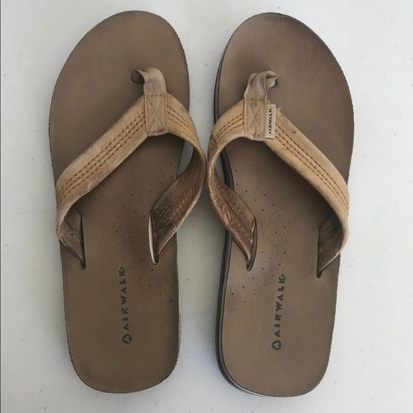 c8da1882c Airwalk Shoes - Airwalk Tan Leather Flip Flops Thongs sandals sz 8